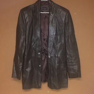 Hunting Horn Suits & Blazers - Vintage Hunting Horn Leather Blazer Size 40